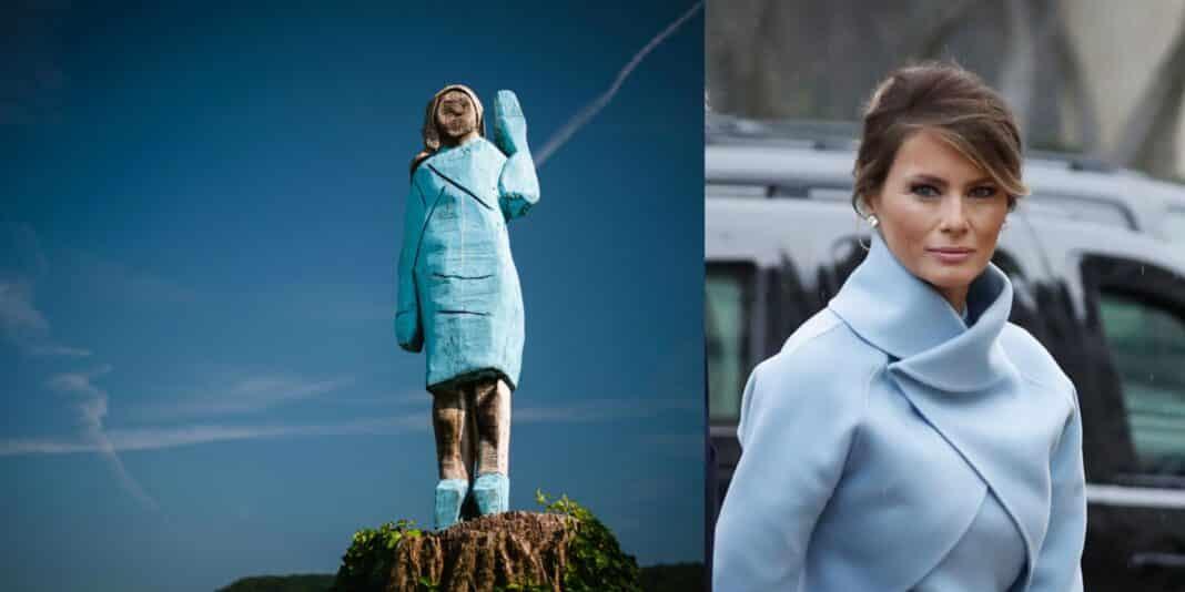 Melania Trump, statua