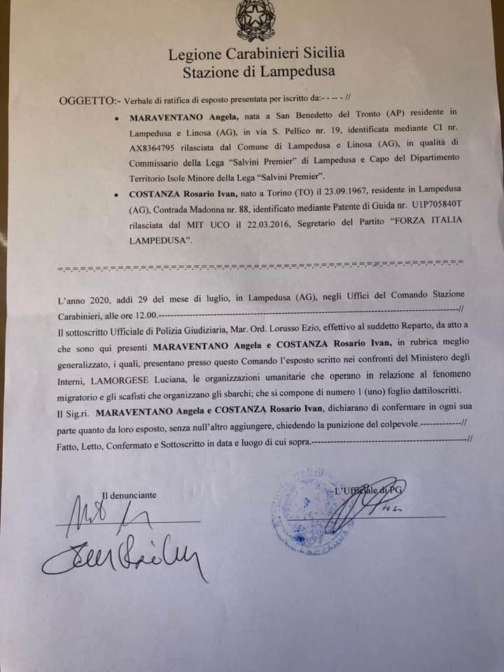 """L'ex senatrice Maraventano: """"Navi da guerra per fermare la rotta verso Lampedusa"""" (Video)"""
