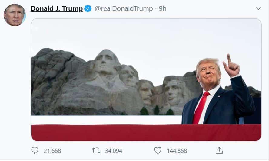 Il sogno di Trump? Aggiungere il suo volto a quelli del Monte Rushmore