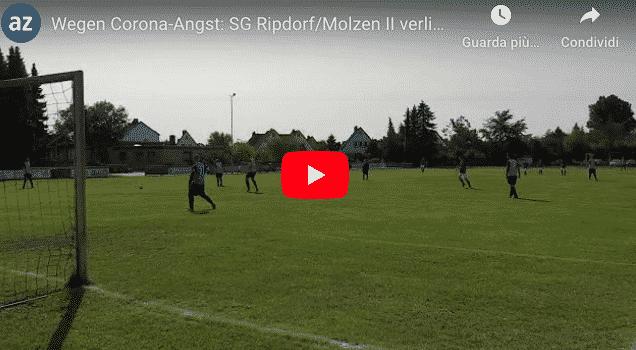 In Germania una squadra di calcio rispetta il distanziamento sociale e perde 37 a 0 (Video)