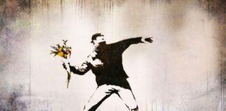 banksy ue marchio anonimato the flower thrower