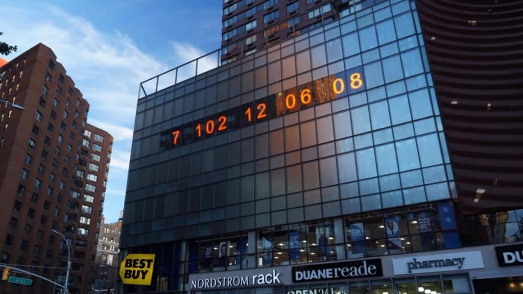 climate clock new york