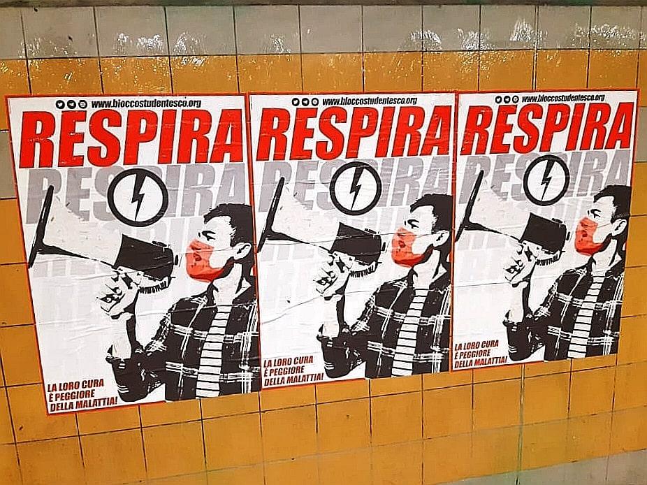 """""""Respira"""". Ecco il manifesto motto del Blocco Studentesco contro la scuola del governo"""
