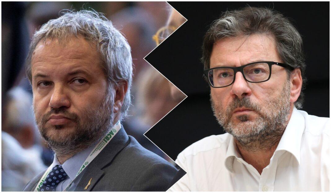 Claudio Borghi e Giancarlo Giorgetti