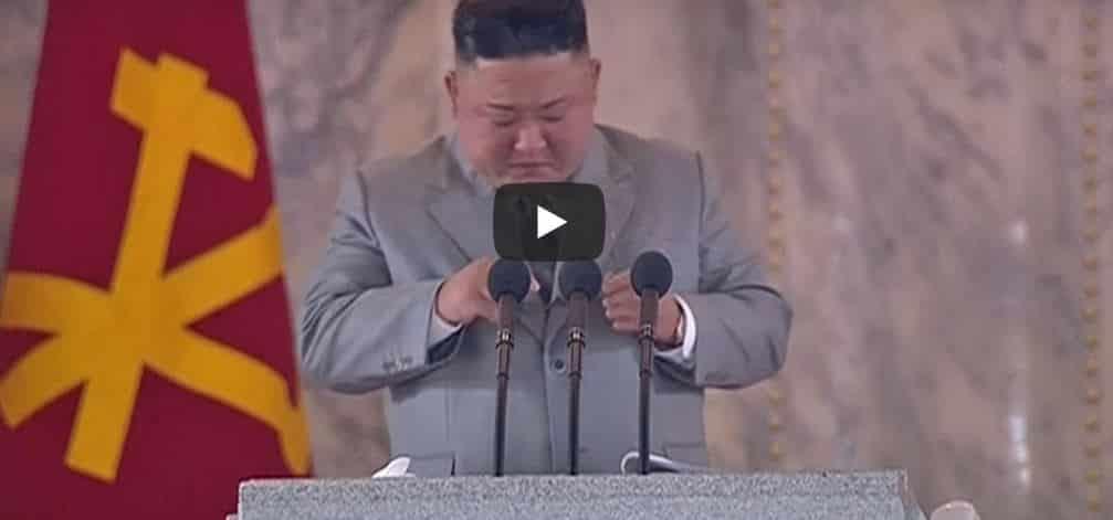 Kim Jong-un, piange