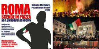 mascherine tricolori proteste roma sabato 31