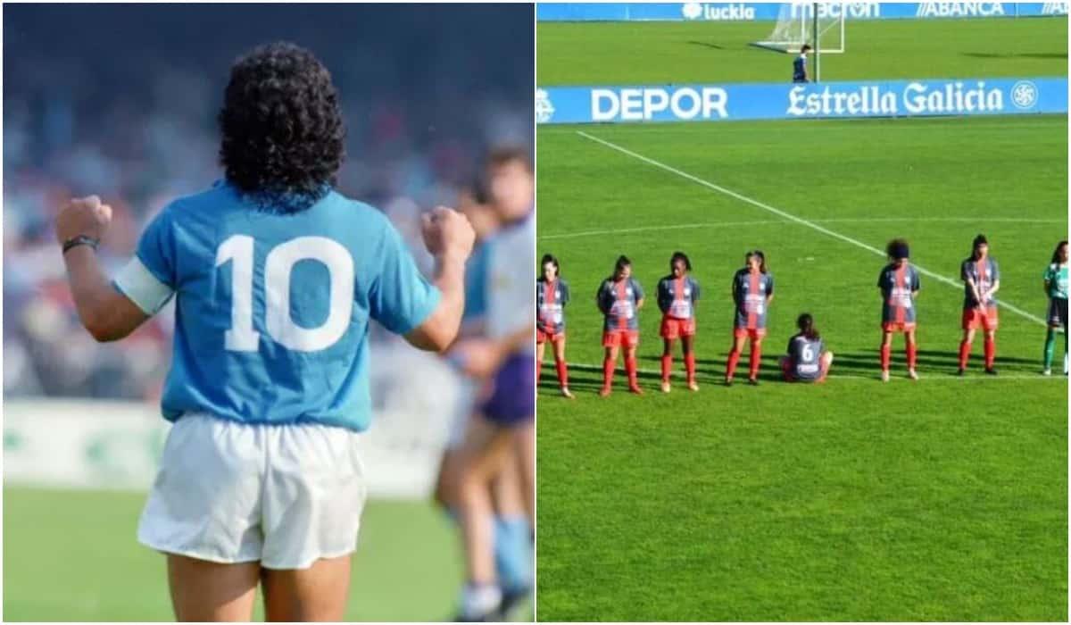 Calciatrice non rispetta il minuto di silenzio per Maradona: