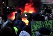 Parigi, scontri