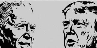 Trump biden tifo