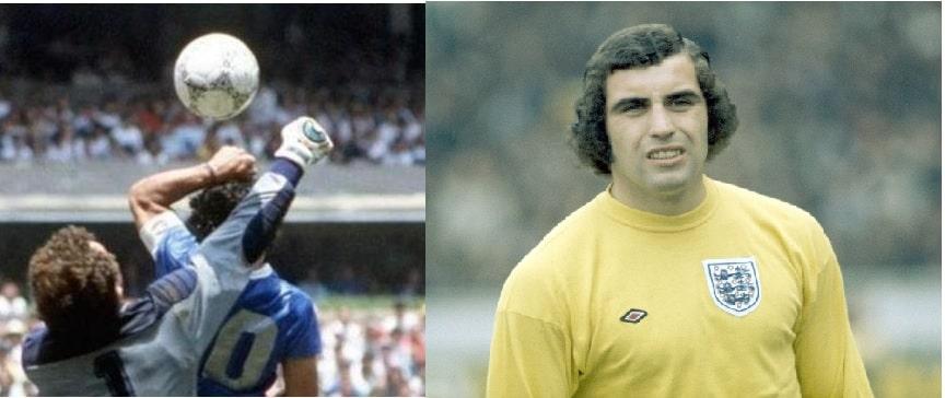 Shilton e Maradona