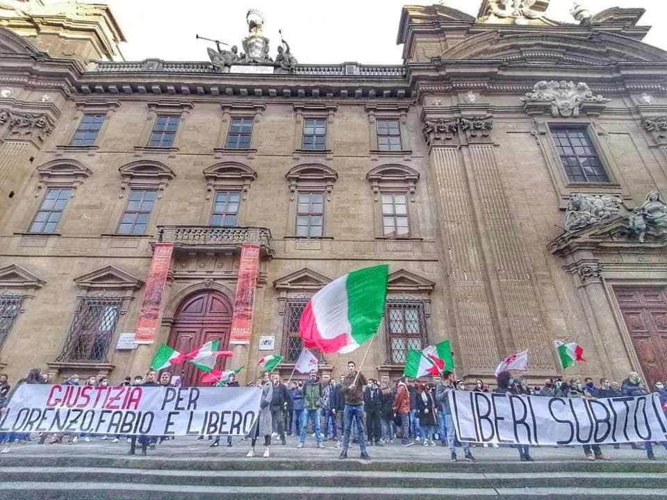 Studenti arrestati, manifestazione Firenze