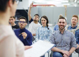 aula durante una formazione in azienda