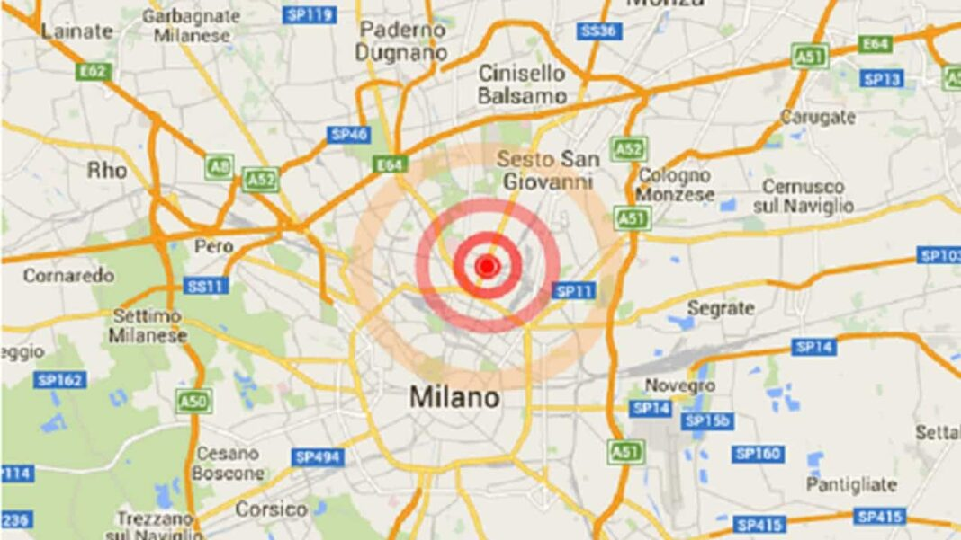 Terremoto, Milano