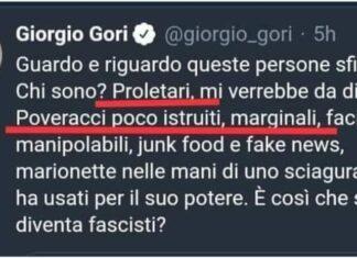 giorgio gori radical chic tweet