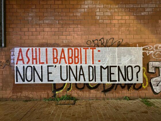 ashli babbit striscioni