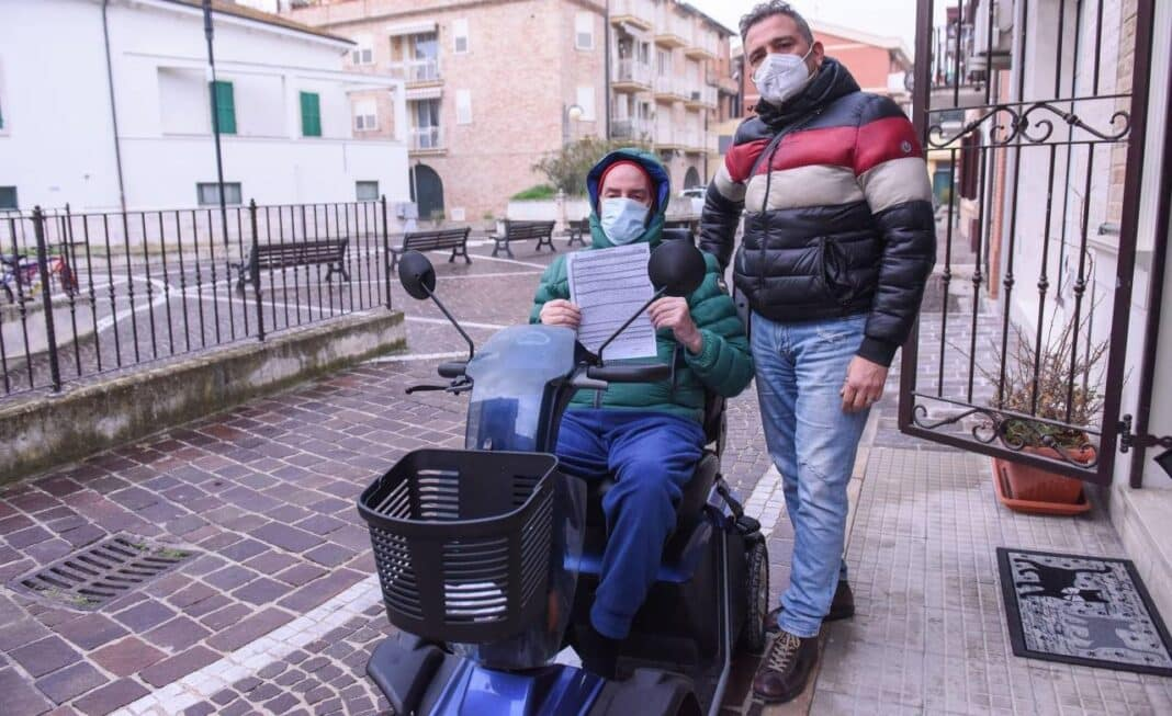 disabile multato