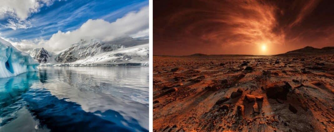 Marte Acqua Antartide