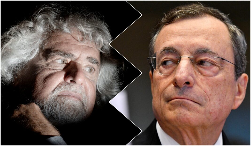 Grillo Draghi