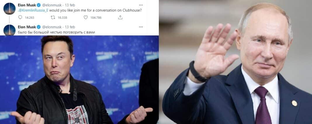 Musk clubhouse Putin