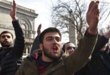 armenia, manifestanti