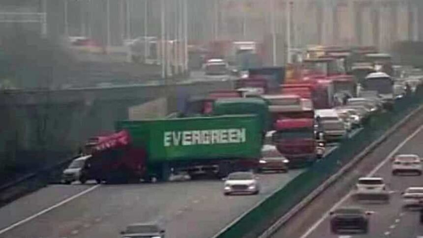 evergreen, camion
