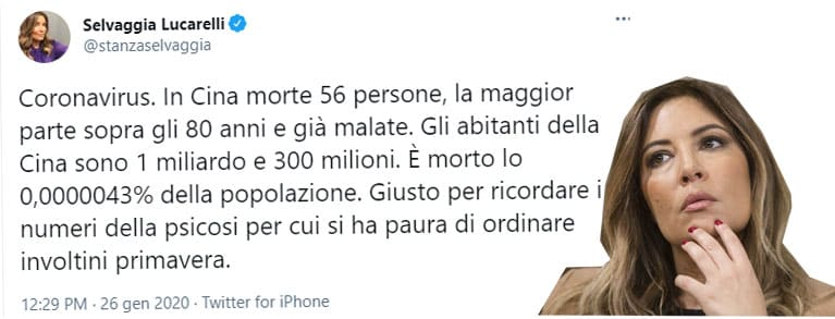 Lucarelli vaccini giornalisti