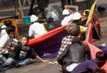 Myanmar. proteste