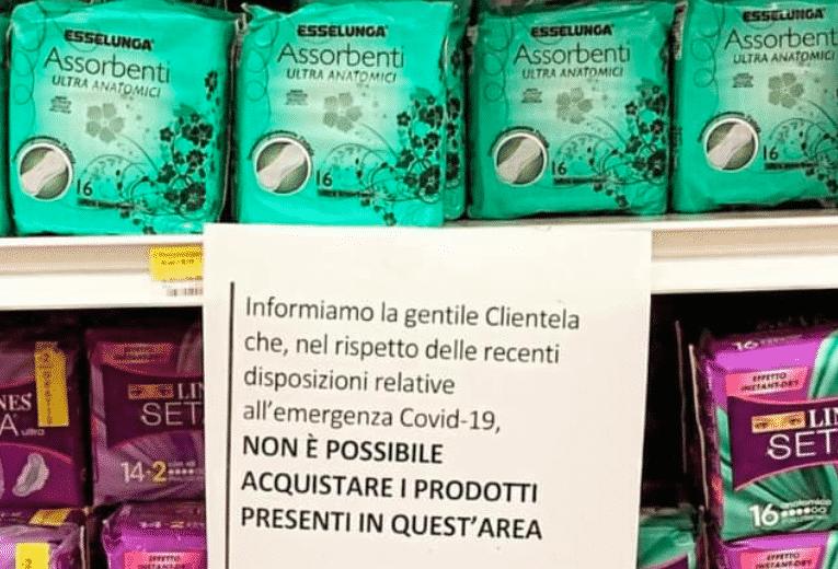 assorbenti supermercato
