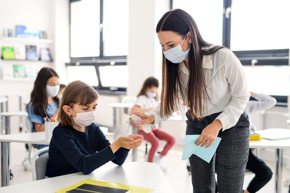 mascherina in classe tso