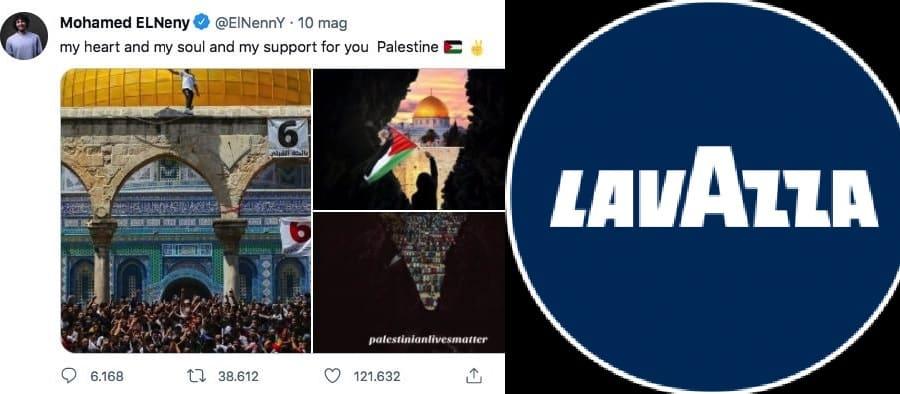 Lavazza, tweet Elneny