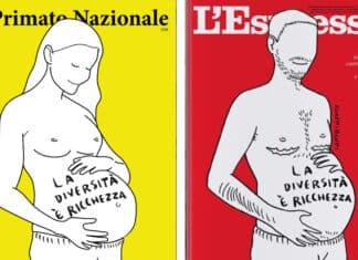 Le copertina del Primato Nazionale e dell'Espresso