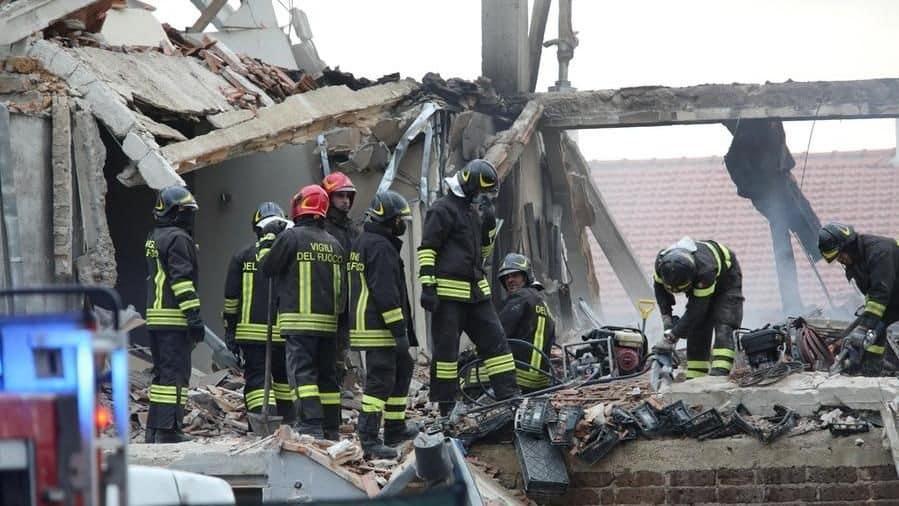 Gubbio, esplosione