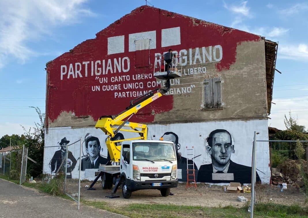 murale partigiano, villa sesso