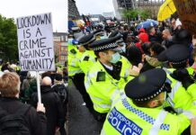 Londra, manifestazione anti lockdown