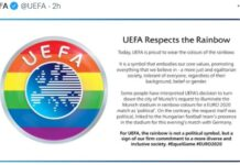 Uefa, arcobaleno