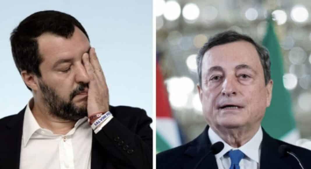 Lega Draghi, scontro