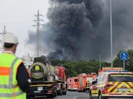 Leverkusen, incendio