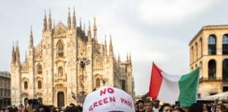 no green pass, milano
