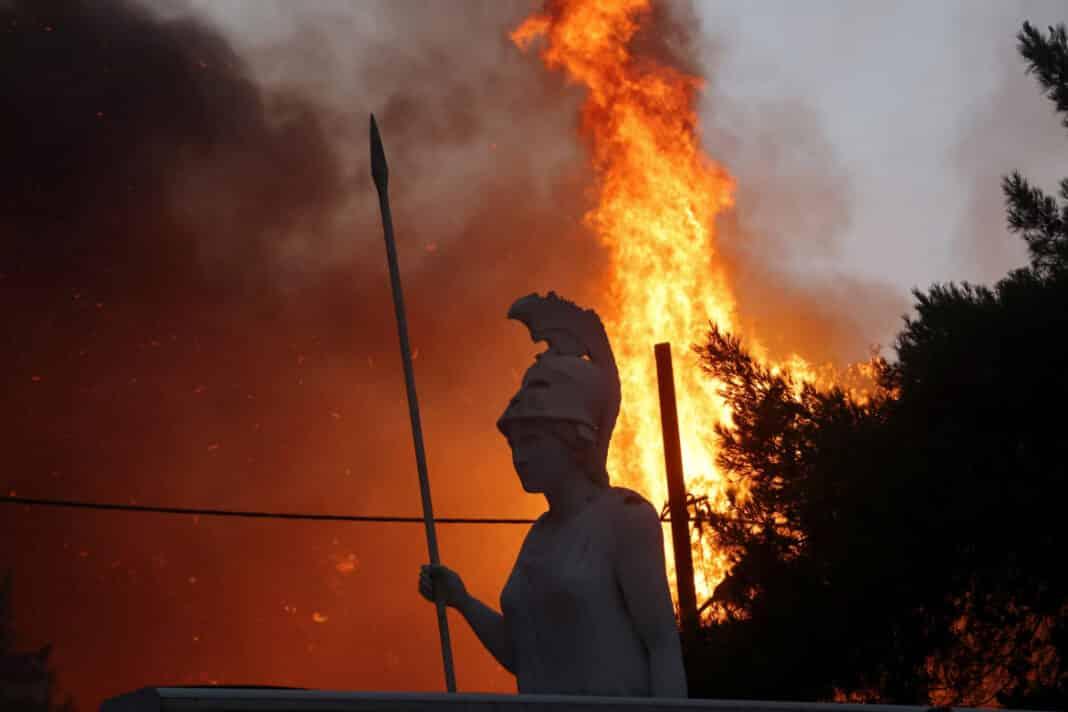 incendi Atene, roghi