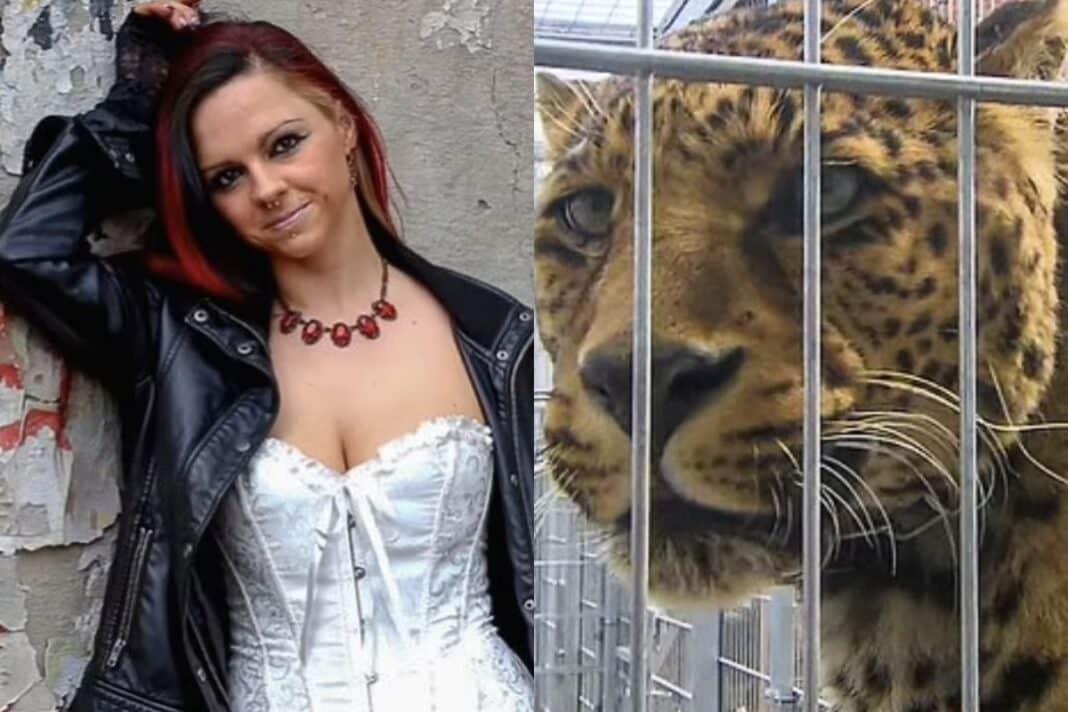 modella leopardo