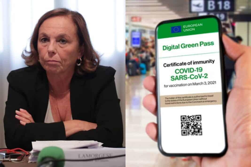 lamorgese green pass documenti