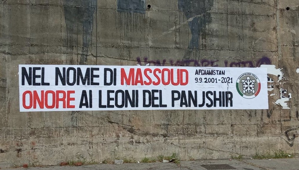 Massoud, striscioni