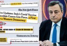 Draghi stampa estera