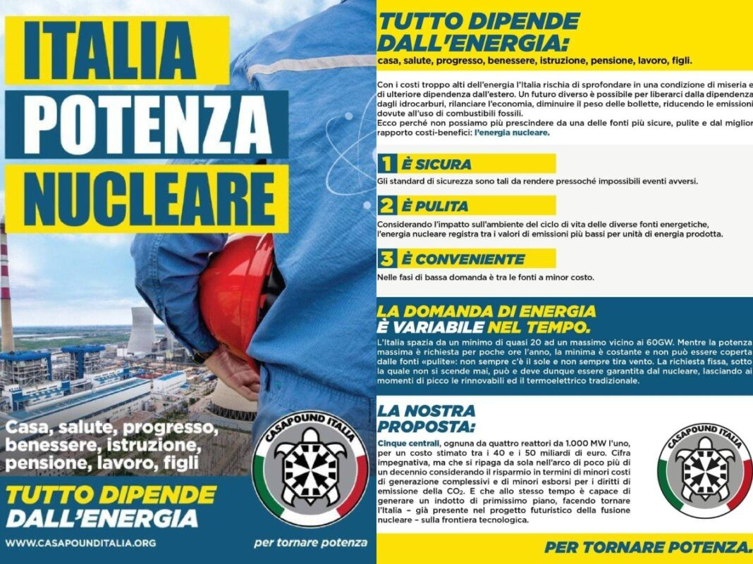 nucleare CasaPound, campagna