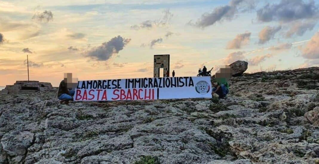 CasaPound Lamorgese, Lampedusa