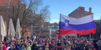 Slovenia green pass, proteste